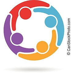 logo, social, nätverk, media