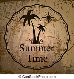 logo, Sommer, Vektor,  Illustration, ferier