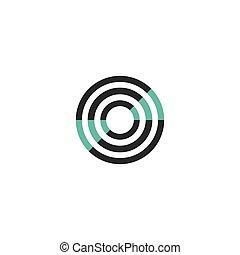 logo, sonar, technologie