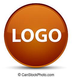 Logo special brown round button