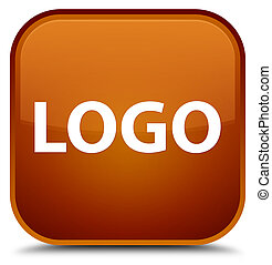 Logo special brown square button
