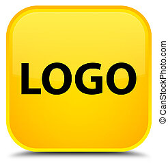 Logo special yellow square button