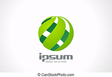 Logo sphere. Technology business abstract theme. Vector