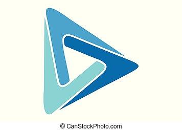 logo, spielen, vektor, dsign