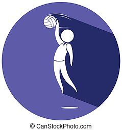 logo, sport, conception, volley-ball