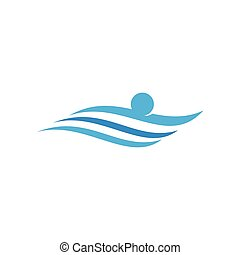 logo, sport, pływacki