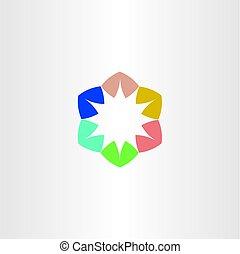 logo star colorful symbol element sign