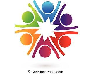 Logo star teamwork people