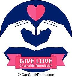 logo, stichting, liefdadig, illustratie