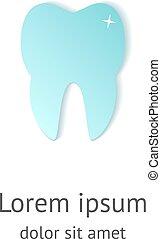 logo, stomatologiczny, projektować, ząb