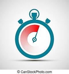 Logo stopwatch. Stock illustration.