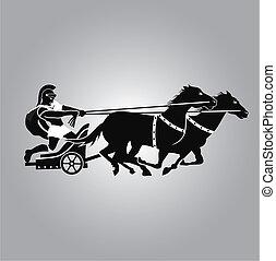 logo, streitwagen