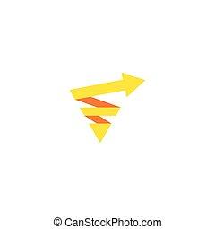 logo, strzała, handlowy