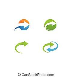 logo, strzała
