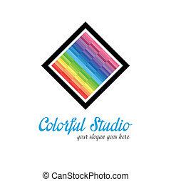 logo, studio, gabarit, créatif