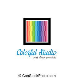 logo, studio, mall, skapande