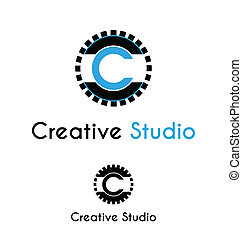 logo, studio, skapande