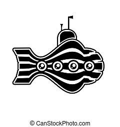 logo submarine stripes on a white isolated background. Vector image