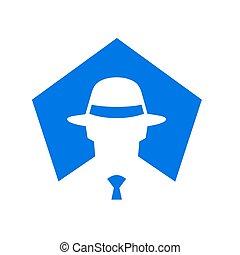 Logo Suit and Tie, Businessman Vector Logo