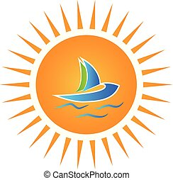 Logo sun and boat