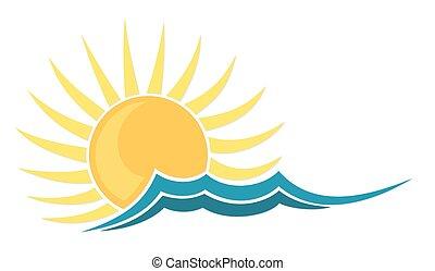 Logo sun and sea.