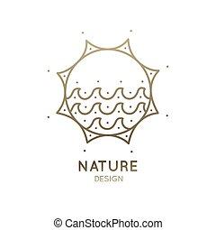 Logo sun and waves