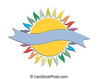 logo, sun.