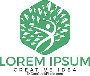 logo, sundhed, menneske, design.