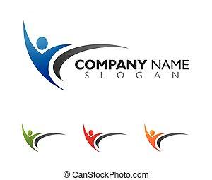 logo, sundhed, skabelon