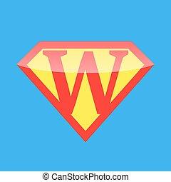 logo, super held