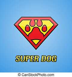 Logo Super Hero Dog
