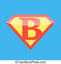 Logo Super Hero - Superhero logo with the letter B. Vector...