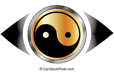 logo, symbol, øje, harmoni, synet