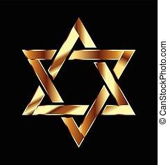 logo, symbol, gwiazda, złoty