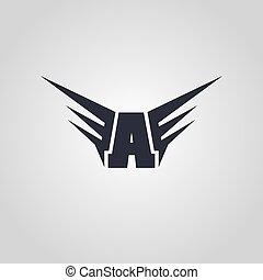 logo, symbol, logotype, temat, lotnik