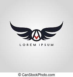 logo, symbol, logotype, thema, flieger