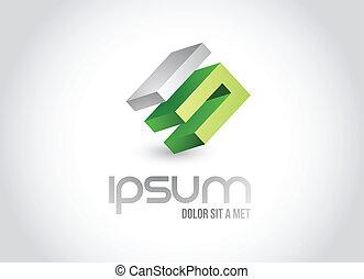 logo, symbol, projektować, handlowa ilustracja