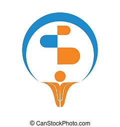 logo, symbol, vektor, pharma