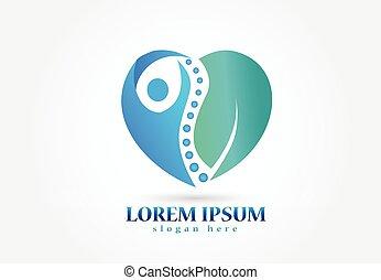 logo, symbole, chiropracteur