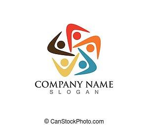 logo, symbole, communauté, gens