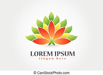 logo, symbole, fleur