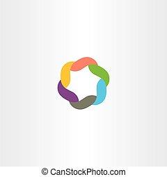logo, symbole, technologie, coloré, icône