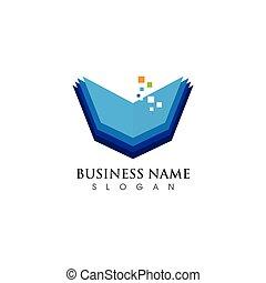 logo, symbool, vectors, boek, lezende