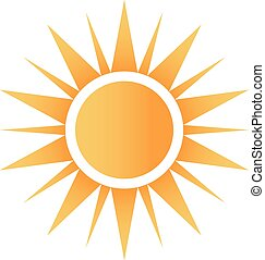 logo, szczęśliwy, słońce