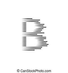 logo, szybkość, b, abstrakcyjny, wektor, litera, moving.