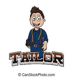 logo, tailleur, conception, illustration