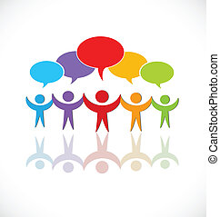 logo, tale, gruppe, teamwork