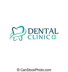 logo, tand varsamhet, klinik, tandläkekonst, för, kids., tänder, abstrakt, ikonen