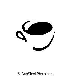 logo, tasse à café