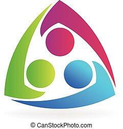 Logo team business people